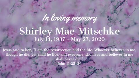 Shirley Mitschke Funeral